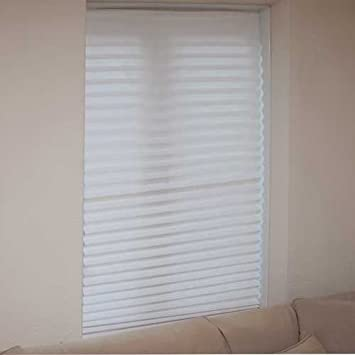 set of 3 white blinds in a box instant blackout blinds that require no fixings amazoncouk kitchen u0026 home