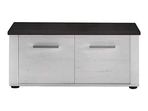 Trendteam Garderobensitzbank, Touchwood, weiß, 90 x 40 x 38 cm