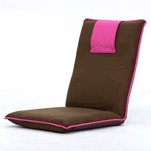 XXSS Tragbarer Klappstuhl, 6 Verstellbarer Lazy Chair Bequemer Lehnstuhl Multifunktionaler Bodenstuhl Stilvoller Sofastuhl (Color : Pink)
