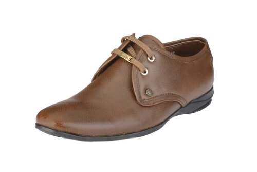 Egoss Men's Tan Leather Casual Lacing Shoes-7