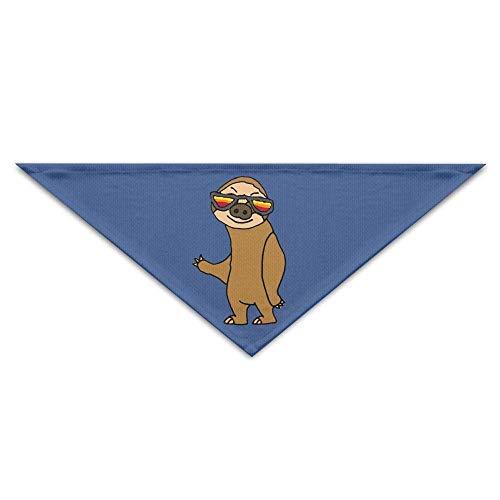 Smile Sloth Cute Pig Dog Bandanas Scarves Triangle Bibs Scarfs Design Basic Neckerchief Cat Collars Pet Costume Accessory Kerchief Holiday Birthday Gift
