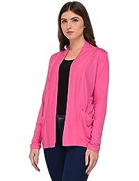 3da3b85631 RED-X Women s Viscose Front Open Full Sleeve Shrug Cardigan Sweater Jacket
