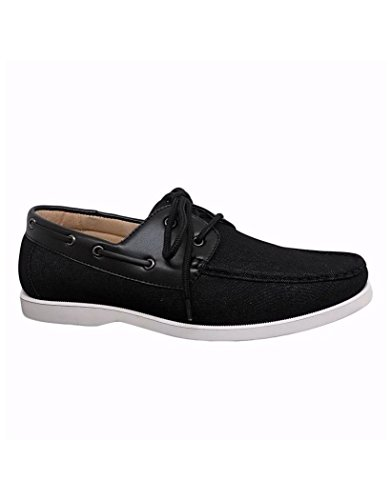 Galax Chaussure Bateau Jeans Noir