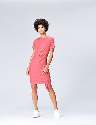 FIND Damen Kleid mit Schnürdetail Rosa