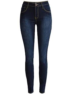 Donna Jeans, ASHOP Slim a Vita Alta Stretti Pantaloni, Jeans Slim Skinny In Denim da Donna, Pantaloni Stretch...