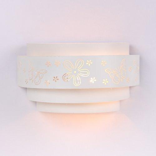 Infantil Lámpara De Pared con Hermoso Lindo Mariposa Estampado Floral E27 Enchufe Max 40w