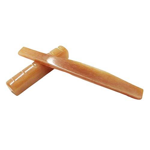 Sguan-wu 2 piezas Bone Bridge Nut Saddle Pillow Parts Accesorios de guitarra acústica de repuesto - Rojo