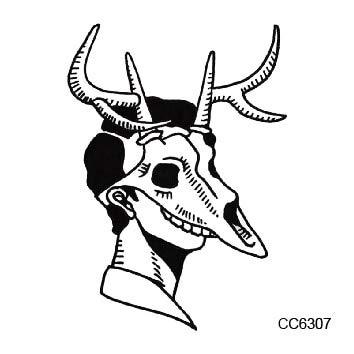 Schule Stil Katie Katze Kopf Frauen Schädel Maske Temporäre Tattoo Aufkleber Körper Kunst Gefälschte Tati Tatu (2 Packungen) CC6307 ()