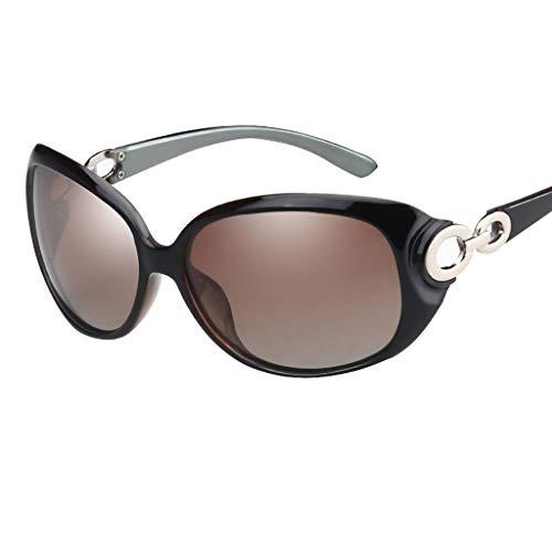 KISlink Sonnenbrille Sonnenbrille Damen Sonnenbrille/Polarisierte Sonnenbrille Rundes Gesicht Elegante Brille mit großem Rahmen Lange Gesichtsbrillen (Farbe: 1)