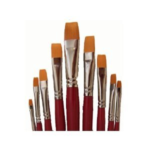 9 Toray Künstlerpinsel Flachpinsel Flach Pinsel Set Toraypinsel Acrylpinsel Aquarellpinsel (Künstlerbedarf-pinsel-sets)