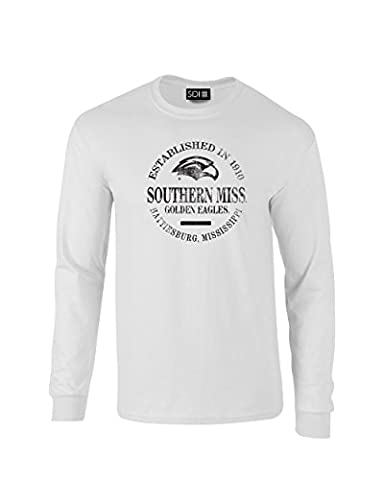 NCAA Southern Mississippi Golden Eagles Pre-Shrunk Long Sleeve Tee, 3X, White