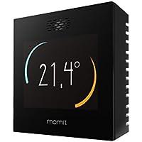 Momit Smart MOMITSTB - Termostato inteligente para controlar la climatización (frío y calor) por Smartphone. Pantalla táctil, negro