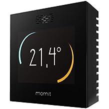 momit Smart - Termostato inteligente para controlar la climatización (frío y calor) por Smartphone. Pantalla táctil