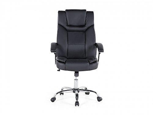 Sedie Ufficio Ecopelle : Sedia da ufficio in ecopelle nera sedia da gaming advance sedie