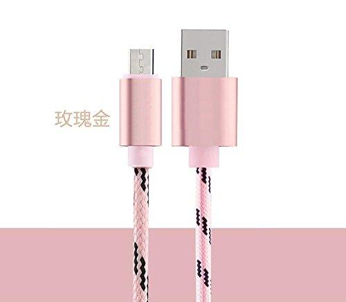 YOUMI USB dimensione del cavo 1M e Gird modello Aspetto cavo del caricatore di materiale di nylon ad alta velocità per iPhone 5 / 5c / 5s / SE / iPhone 6/6 più / 6S / 6S Plus / iPhone 7/7 Plus / iPad  Android Pink