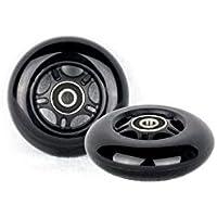 Ruedas de Repuesto PU 80mm 2 Inliner Skate Waveboard Negro ABEC 9 rodamientos