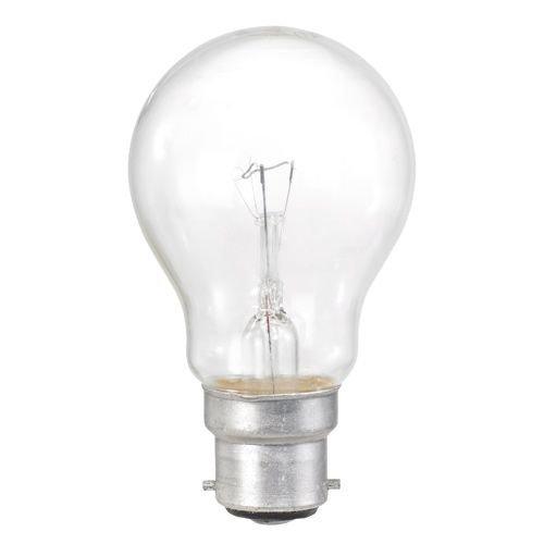 10 Pack 60W BC B22 Clear Classic A GLS Light Bulbs, Bayonet Cap, Incandescent Lamps, 700 Lumen, Mains 240V, Globes (1)