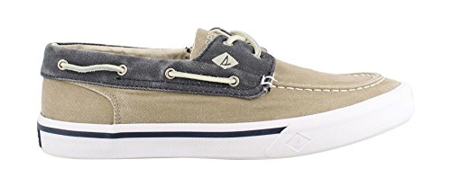 Sperry Herren Bootsschuhe STS17782 Boat Washed Taupe Navy Taupe Navy