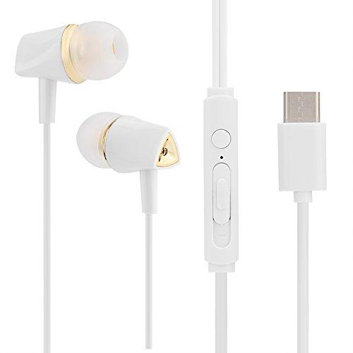 Vbestlife Auriculares Estéreo en La Oreja Sonido de Alta Fidelidad con USB Tipo C con Micrófono para Huawei Mate 10 / Pro, Huawei p9, Xiaomi Mi 6 / Mix 2 / Note 3, etc.