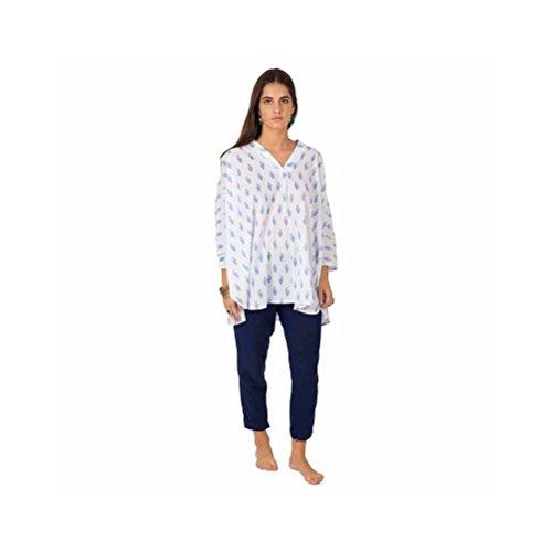 Zen*Ethic - Top Caftan Swathi - Voile de coton Bleu