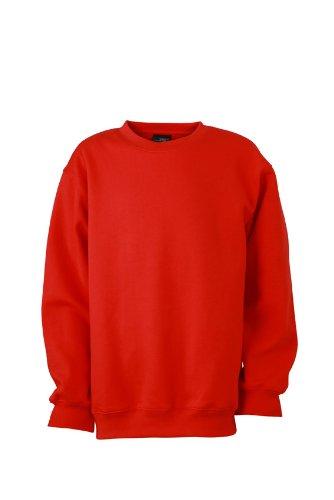James & Nicholson Jungen Sweatshirt Sweatshirt Round Sweat Heavy Junior rot (Tomato) XX-La Preisvergleich