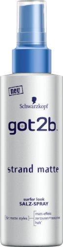 got2b Strandmatte texturierendes Salz-Spray Halt 3, 2er Pack (2 x 150 ml)