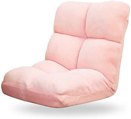 CMXSC Boden Stuhl, Einzel Klappstuhl for Meditation Fauler Couch-Bett Rückenlehne Balkon Bogen Fenster Computer Stuhl Liegestuhl, Multicolor Optional, Brown (Color : Yellow) -