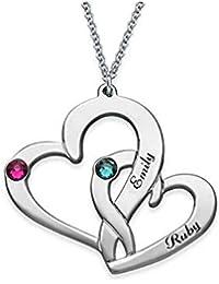 37c12732f41f KOOC Collar Personalizado Nombre Collar Aduana grabada Regalo de la Navidad  del Regalo de los Amantes