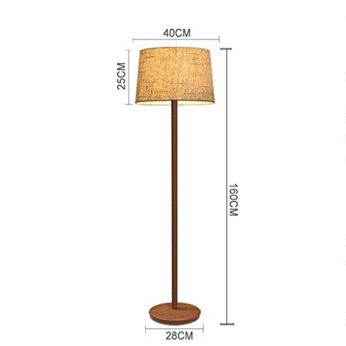 NA Home Stehleuchte, bodenstehende Lesung, kreative europäische Stil-Tischlampe Stehlampe amerikanische Retro-Nachahmung Walnuss-Korn Wohnzimmer Schlafzimmer Augenschutz vertikale Tischlampe -
