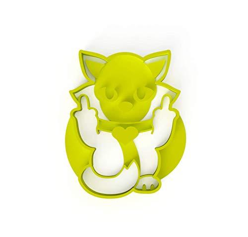 3DreamsDesign Keksausstecher Stinkefinger Katze Fuck Cat Katzen-Ausstecher ideal für Teig Fondant Marzipan super als Geschenk inkl Rezept