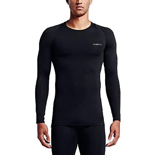 Ropa Hombre Blusa Camiseta Hombre Deportiva Manga Larga Gym Compresión  Camiseta Interior Fitness Gimnasio Aire Libre 9ae5fe79068fa