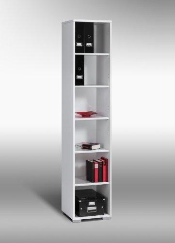 MAJA-Möbel 1734 5539 Aktenregal, Icy-weiß, Abmessungen BxHxT: 42 x 214 x 40 cm