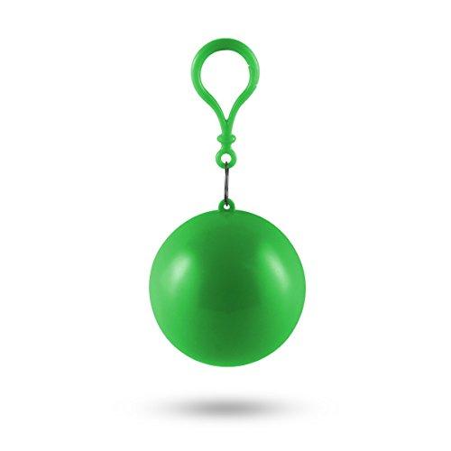 MUROAD Einweg Regenmantel Portable Haken Notfall Poncho Ball Für Outdoor-Aktivitäten, einmal Regencape, Regenpocho (Grün)