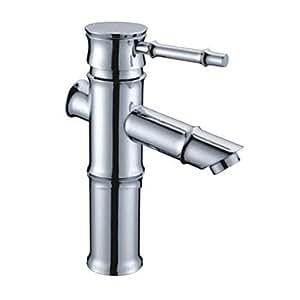 TTW verchromt Messing Waschbecken Wasserhahn - Bambus Form Design