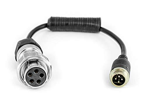 Carmedien Anschlussstecker für cm-Rad Dosen 4-Pin-Schraubverschluss Anschlußdose PKW Anhänger 12~24 Volt Auto Rückfahrsystem -