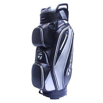 TaylorMade 2017 Monaco Cart Bag Mens Golf Trolley Bag 14-Way Divider Black/Red/Silver