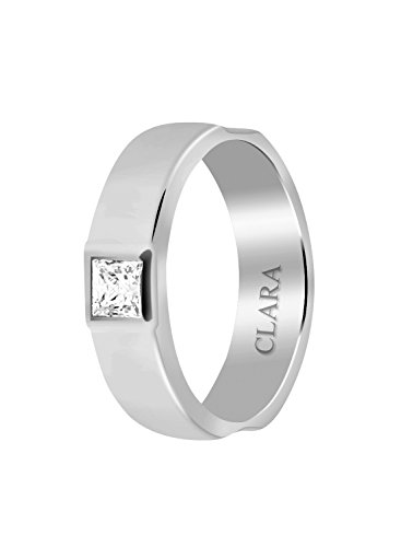 Clara Swarovski Side Cut Sterling Silver Ring For Men-27