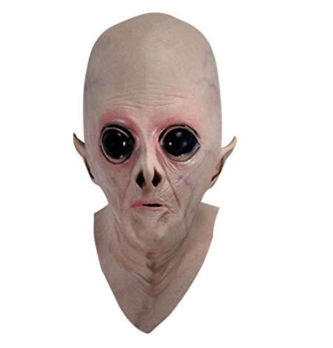 Maske Kostüm Vinyl - LZGBH Halloween Horror Maske Scary Ekelhaft Alien Form Maske Vinyl Großen Augen Kostüm Maskerade Party Cosplay Requisiten