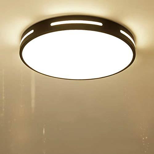 Luce soggiorno moderno minimalista luce rotonda telecomando intelligente camera da letto quadrata plafoniera nera 30CM