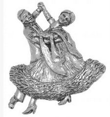 Gift Boxed Pewter Ballroom Dancers Badge pin or Brooch Gift for Scarf, Tie, Hat, Coat or Bag