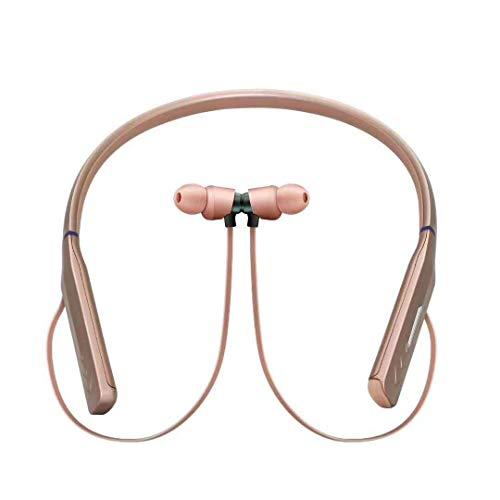 TOALOL Bluetooth Kopfhörer Drahtloser Kopfhörer Bluetooth Headset Sport Hängender Hals mit (Roségold)