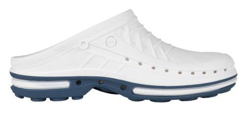 Clog-Chaussure professionnelle WOCK-Stérilisable; Antistatique; Antidérapante; Absorption des chocs - Bleu/Blanc - UK : 5.5 ; EUR : 38-39