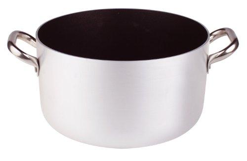 Pentole Agnelli Platinum Casseruola Alta in Alluminio, con 2 Manici