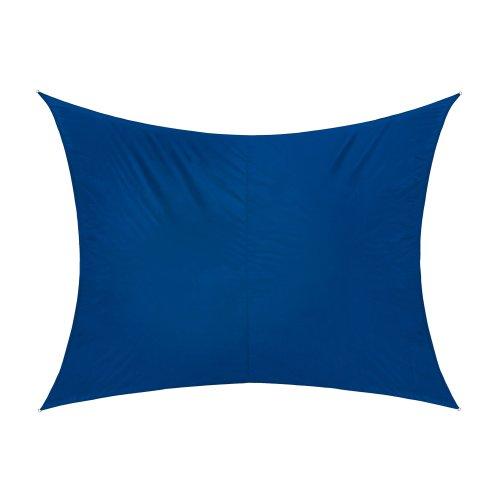 Jarolift Sonnensegel Rechteck wasserabweisend, 300 x 200 cm, azurblau