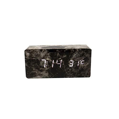 Alarm clock Reloj Despertador De Madera De LED Reloj