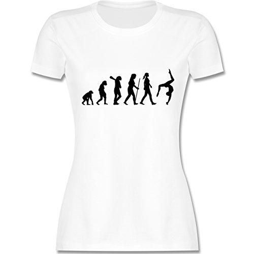 Evolution - Evolution Turnen - S - Weiß - L191 - Damen T-Shirt Rundhals