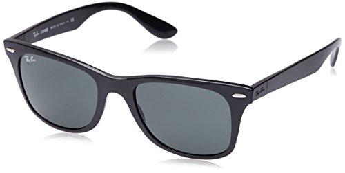 Rayban Unisex Sonnenbrille Wayfarer Liteforce, (Gestell: Schwarz, Gläser: Grün Klassisch 601/71), Medium (Herstellergröße: 52)