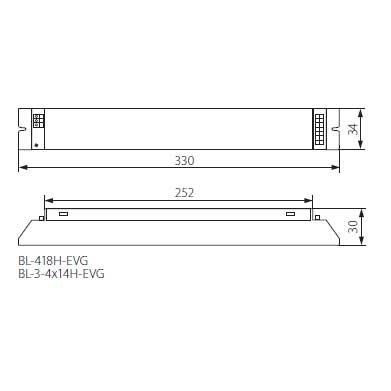 Elektronisches Vorschaltgerät, EVG für T5, 3-4x14W EEI = A2, Drossel, Zündgerät - 2