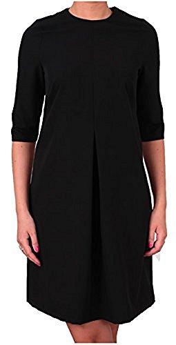 Berry - Elegantes Kleid 3/4-Arm U-Boot-Ausschnitt Gr 38 40 42 44 46 48 50 52 große Größen Schwarz