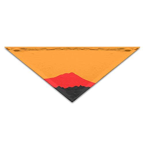 ang-Gebirgslandschaftsorange Artwork-Hundebandanas-Schals-Dreieck-Schellfische reizend ()